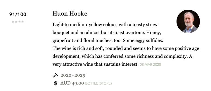Austin's Cuvee Review - Huon Hooke